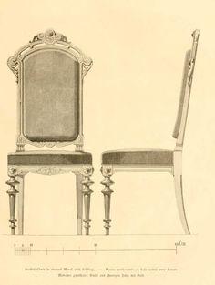 img/dessins meubles mobilier/chaise rembourree bois noirci avec dorures.jpg