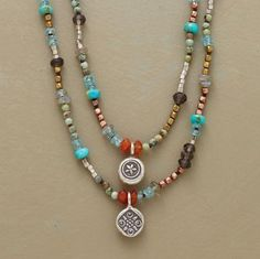 this would look great with hill tribe pendants and cornerless cubes mixed with misc. beads