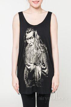 Gandalf The Lord of the Rings Tops The Hobbit Movie Magic Women Vest White T-Shirt Black Tank Top Unisex Shirt Tshirt Size S M L