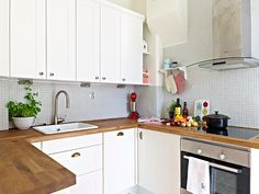 scandinavian kitchen -easu diy counter tops wood