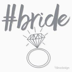 7a1e88e40ce #bride V Neck T Shirt, Classic T Shirts, Hashtags, Bride, Wedding. '