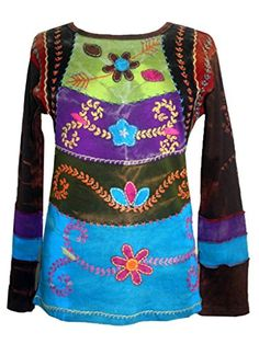 255 Rib Cotton Funky Embroidered Bohemian Gypsy Top Blouse - Small Agan Traders http://www.amazon.com/dp/B00NG3P2MO/ref=cm_sw_r_pi_dp_aNQ6ub0T6C02W