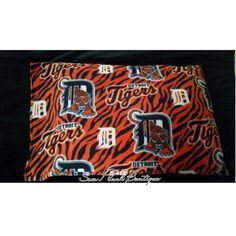 Fleece Pillowcase, Detroit Tigers Pillowcase, Tigers Pillowcase, Baseball, Sports pillowcase by SewPlushBoutique on Etsy