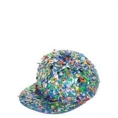 50% off Moschino - Baseball Hat - Can Sequins On Cotton Multicolored - $308 #moschino #hat #sequins