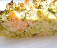 Tarte courgette et saumon sans pâte