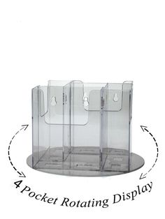 Lot of 6 Clear Acrylic 4 Pocket Tri-Fold Brochure Rotating Display Spinning Rack Acrylic Frames, Acrylic Display, Clear Acrylic, Marketing Ideas, Business Marketing, Brochure Stand, Counter Display, Tri Fold, Spinning