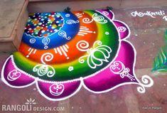 easy rangoli design diwali by aakruti