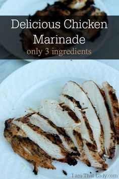 Try this 3-ingredient chicken marinade tonight! So easy & delicious! #DIY #frugalliving