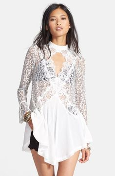 Free People 'Telltale' Embroidered Tunic available at #Nordstrom