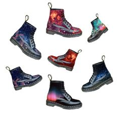Have you seen these doc martens? posted in Shopping: Does anybody know if these docs were actually made? Only Fashion, Unique Fashion, Mens Fashion, Doc Martens, Theme Galaxy, Basket A Talon, Rangers, Sneaker Heels, Crazy Shoes