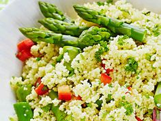 Herb Asparagus Couscous, Main Dish, Finnish Easter Food, March 2016