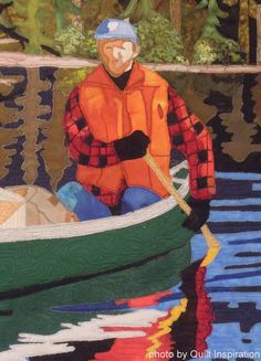 close up, Expedition by Brigitte Villeneuve (Joncquiere, Quebec, Canada).  Photo by Quilt Inspiration: O, Canada !