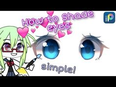 ``How to Shade eyes simple`` Eye Drawing Tutorials, Digital Painting Tutorials, Digital Art Tutorial, Art Tutorials, Drawing Tips, Body Tutorial, Anatomy Tutorial, Chibi Eyes, Youtube Editing
