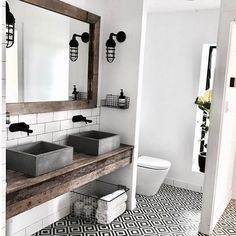 """517 Likes, 13 Comments - Antique and Encaustic Tiles (@jatanainteriors) on Instagram: """"If I had the time, I would hang out in here all day! The stunning bathroom of @kimberlyamos who's…"""""""