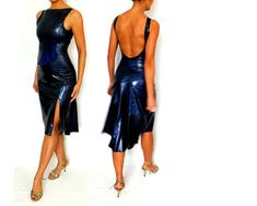 Amazing mozaic textures in midnight blue. The fabric is medium eight jersey, falls nicely and stretchy. Elegant, sensual yet easy to wear The dress is has a slit at front side and lo cut at the back with fluted hem. It comes with 3 sashes (orange, black and dark blue) to match your