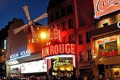 Moulin Rouge, Paris.  Yes, it's true, they are topless.  But a very different type of show than you might think.  Many parts were similar to ballet.  Anyway, had to see for myself!