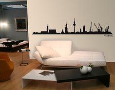 #Wandtattoo Skyline No.SF475 #Hamburg Skyline #Skyline #Skylines #Traumstadt #Urbanes #Flair #City #Life #Großstadt #Feeling #Wandgestaltung #Deko #Bilder