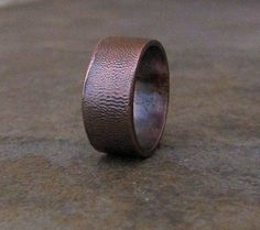 Copper Wide Ring Antiqued Ripple Band Wedding Band by SilverSmack Rustic Jewelry, Jewelry Art, Groom Ring, Antler Ring, Wide Band Rings, Titanium Rings, One Ring, Antique Rings, Wedding Bands