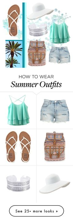 """summer outfit #5"" by elis-grey on Polyvore featuring BLANKNYC, Billabong, Eric Javits, Accessorize and Summer"