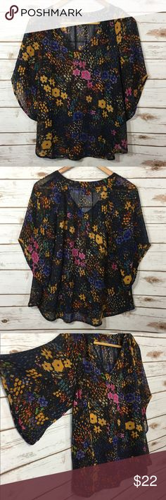 Anthropologie Fei 100% Silk Sheer Blouse Excellent Condition! Check out the rest of my closet for great deals! Anthropologie Tops Blouses
