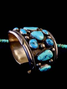 Old Pawn Vintage Navajo Sterling Silver Cuff Bracelet w Silver Jewellery Indian, Navajo Jewelry, Lapis Lazuli, Turquoise Jewelry, Vintage Turquoise, Sterling Silver Cuff Bracelet, Native American Jewelry, Or Antique, Handmade Silver