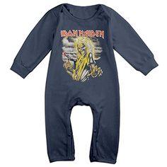 c245f6ff4 Heavy Metal Rock Band Iron Maiden Killers Baby Onesie Romper Jumpsuit  Bodysuits Long Sleeve Playsuit,