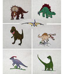Dinosaurier Stickdateien auf www.gabrielles-embroidery.com