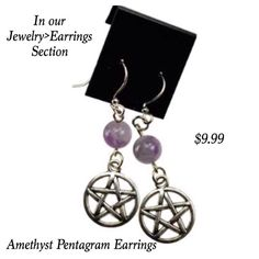 See all of our pentagram earrings in our jewelry section!