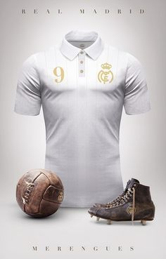 Real Madrid - Camisetas vintage de gigantes de Europa Sports Jersey Design, Football Design, Sport Design, Retro Football Shirts, Football Jerseys, Football Names, Retro Shirts, Sport Football, Maillot Lakers