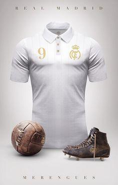 Real Madrid - Camisetas vintage de gigantes de Europa