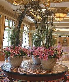 hotel lobby silk flower arrangements - Google Search