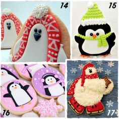 Penguins, polar bears, and reindeer, oh my! 51 Decorated Christmas Cookies with Tutorials