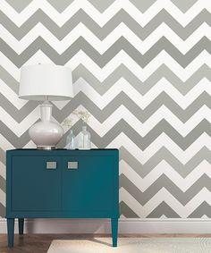 Wall pops Look at this #zulilyfind! Gray Zigzag Peel & Stick Wallpaper #zulilyfinds