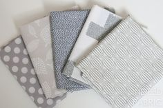 Build your stash with this mix of fat quarter prints with gray hues.