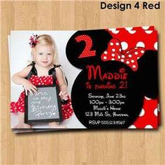 minnie mouse personalized invitations