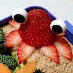 Strawberry squid #bento