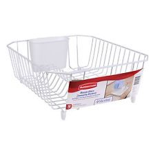 rubbermaid dish drainer small white