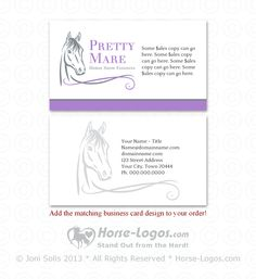 26 best horse business cards images on pinterest horse logo horse head logo 30 pretty mare on a customizable business card logo for sale colourmoves