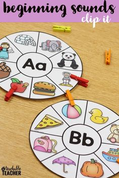 Alphabet Activities with Clothespins - Build Fine Motor Skills! These clothespin activities combine alphabet practice, beginning sound practice, and the building of fine motor skills! Students clip only the images that start with the beginning sound of th Preschool Learning Activities, Motor Activities, Letter I Activities, Preschool Curriculum Free, Fluency Activities, Phonics Games, Free Preschool, Reading Activities, Teaching Resources