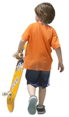 #CUTOUT OBSESSION child skateboard