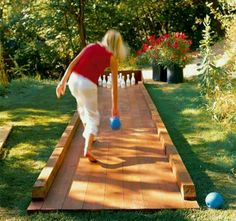 Totally putting an Outdoor Bowling Lane in our backyard this summer