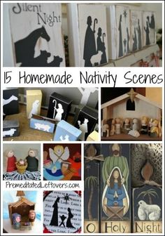 15 Homemade Nativity Scenes and Craft Activities for Kids. Use these DIY Nativity scenes to decorate for Christmas and the Nativity craft projects to entertain kids during Advent.