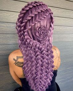 Twist Hairstyles, Cool Hairstyles, Creative Hairstyles, Beautiful Hairstyles, Hair Shine Spray, Fashion Bubbles, Vibrant Hair Colors, Flower Braids, Types Of Braids