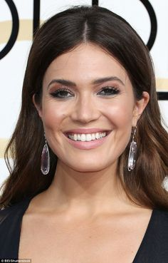 A complexion to remember: After prepping Mandy Moore's face with the Caudalie Premier Cru Elixir, make-up artist Jenn Streicher applied Laura Mercier Foundation Primer all over the 32-year-old's skin and then used the Laura Mercier Silk Crème Moisturizing Photo Edition Foundation