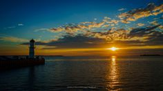 Sunset On The St. Lawrence River - by Mark Benedyczak  (Taken from the St. Louis Park in Lachine, Montreal)