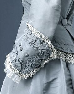 Wedding dress, English, c1869 - Royal Albert Memorial Museum, Exeter, UK | http://www.rammuseum.org.uk/collections/costume-and-textiles