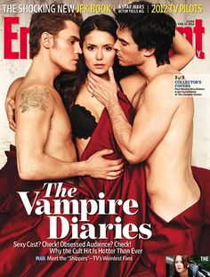 Vampire Diaries: Stefan, Elena and Damon. What I would do just to be her for a day... Eh maybe a week or forever haha. I'm obsessed!!
