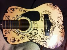 sharpie art guitar - Google Search