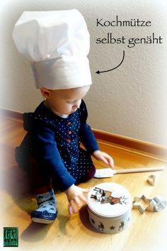 kochmütze für kinder selbstgenäht, chefkochhut, kochhut