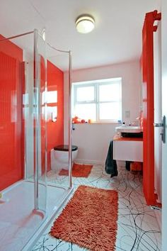 red #bathroom